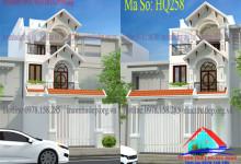 Mẫu thiết kế nhà phố 1 trệt 2 lầu theo phong cách hiện đại