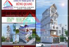 Mẫu nhà phố 4 tầng 2 mặt tiền thiết kế hiện đại tại quận Gò Vấp