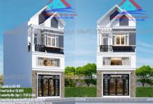 Mẫu nhà đẹp 3 tầng mái thái-chị Minh-Q12
