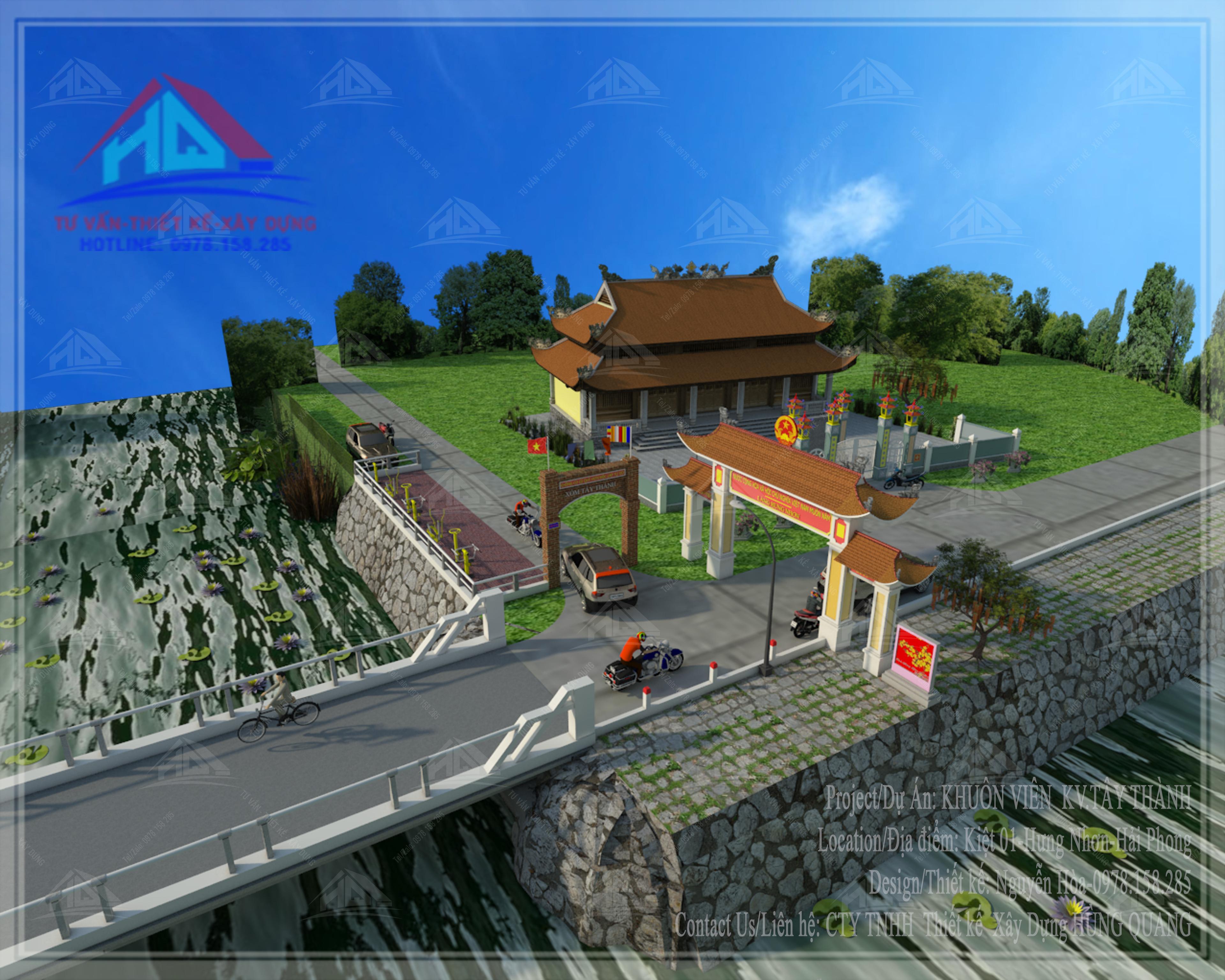 thiết kế công viên đẹp thiết kế chùa đẹp tai quang tri (3)