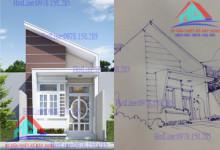 Thiết kế nhà cấp 4 hiện đại của anh Hòa tại Biên Hòa