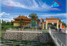 Thiết kế công viên-thiết kế cổng chùa đẹp tại Quảng Trị